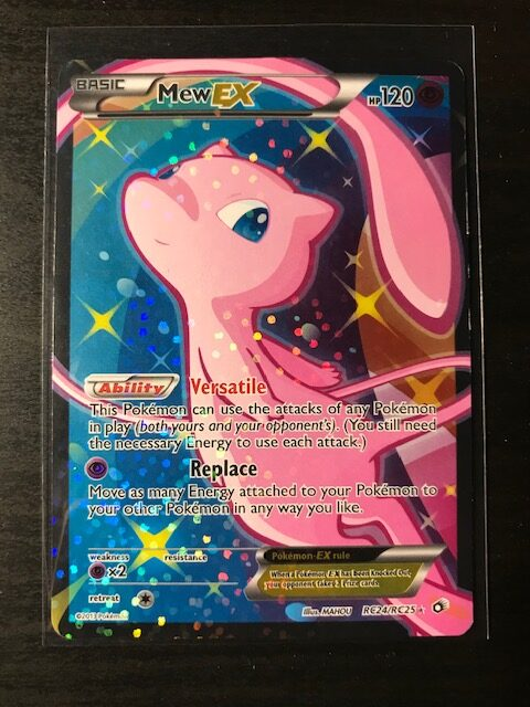 Pokemon Card Mew EX Full Art Radiant Collection