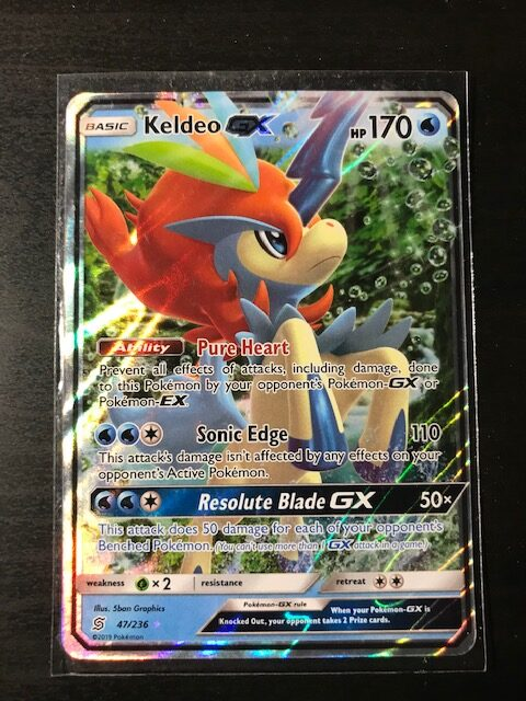 Pokemon Card Keldeo GX SM Unified Minds