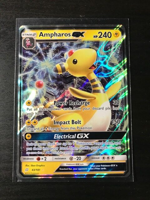Pokemon Card Ampharos GX SM Team Up