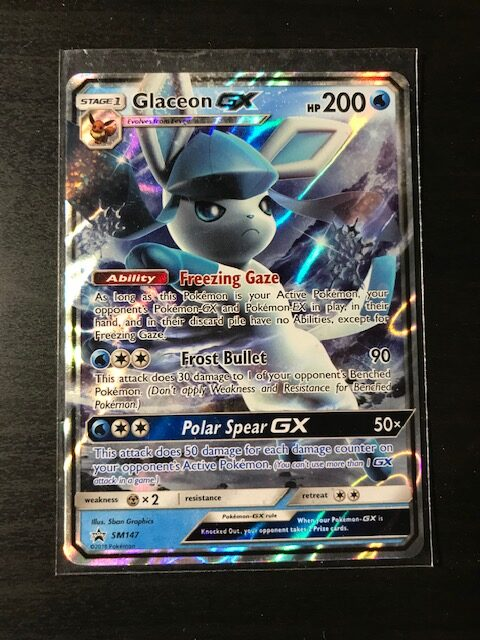 Pokemon Card Glaceon GX SM147 Promo