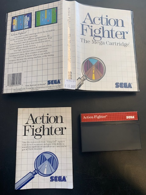 Action Fighter SMS CIB