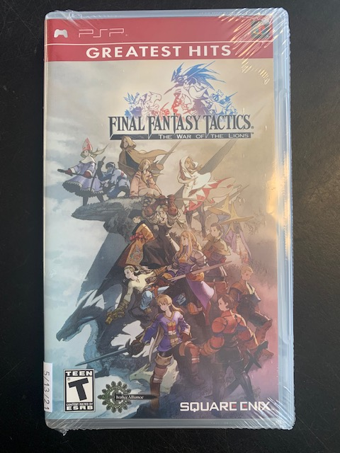 Final Fantasy Tactics: The War Of The Lions Brand New Factory Sealed PSP