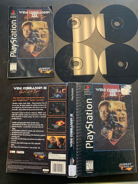 Wing Commander 3 Heart Of The Tiger Playstation Long Box
